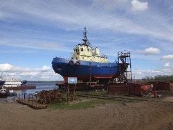 "Completed the demolition of the tug ""Karin"""