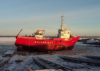 Vessel slipping even in cold weather!